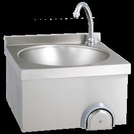 Handwaschbecken 40x40cm, zeitgesteuert Aufkantung 30mm - KBS
