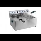 Doppel-Fritteuse Elektro 2x 8 Liter Becken - KBS