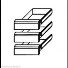 Schubladensatz 3 x 1/3 GN 1/1 KTF Serie - KBS